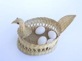 Porta ovos em fibra de coco
