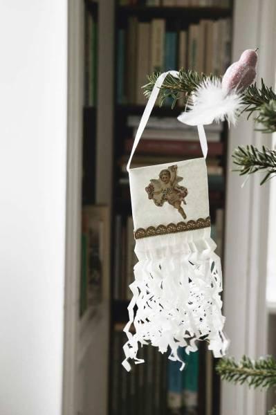 Estandartes para a árvore de natal - faça você mesma