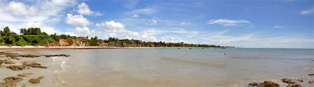 Panorâmica de Carapibus, ao fundo a praia de Jacumã