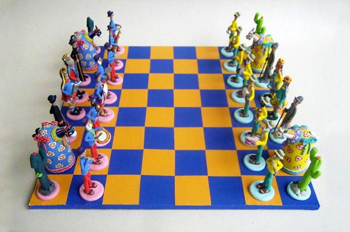 Jogo de xadrez em fécula de mandioca