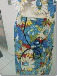 Detakha da lateral do vestido de chita