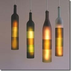 Luminarias de garrafs de vinho