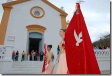 Bandeira do Divino na festa em Santo Antonio de Lisboa