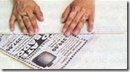 Vamos enrolar canudinhos de jornal