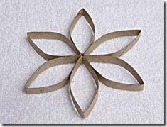 Faça a flor com seis pétalas