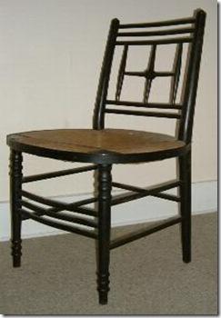 Cadeira produzida pela Morris & Co e criada por Ford Madox Brown.
