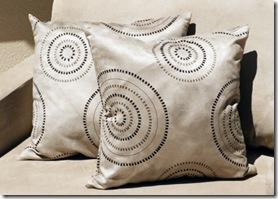 Almofadas de camurca estampada, muito elegantes