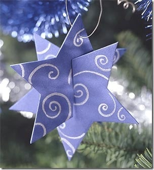 Enfeite de papelão para árvore de natal