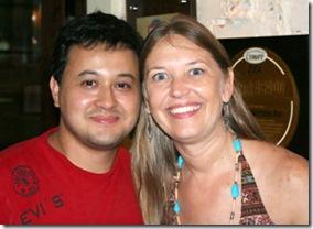 Cris Turek e Leandro do bar Aos Democratas