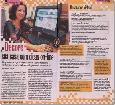 Fomos mencionados na Revista da Hora do Jornal Agora SP