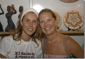 Grazyela Lima e Cris Turek no Salão de Artesanato