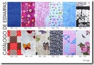 Catálogo de estampas em tecido da Artefinotrapo página dois