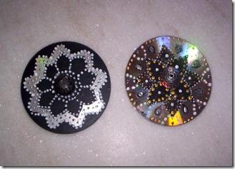 Cds reciclados e pintados se tornam lindas mandalas