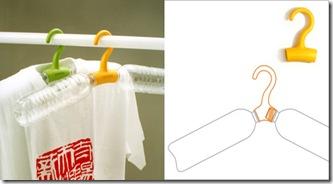 Rethink Hanger é o cabide feito de garrafa pet