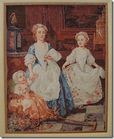 The Grahans Children, bordado em gobelin por Sandra Bessi