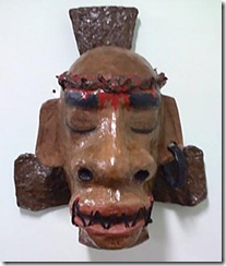 Cristo estilizado como uma carranca, de Adão Cardial
