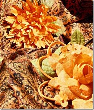 Flores de tecido especiais para ocasiões especiais