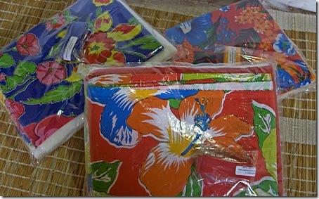 Kits do sorteio do AVB com cortes de chita