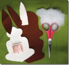 Materiais necessários para o coelho