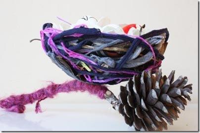 Transformando o ninho num objeto decorativo