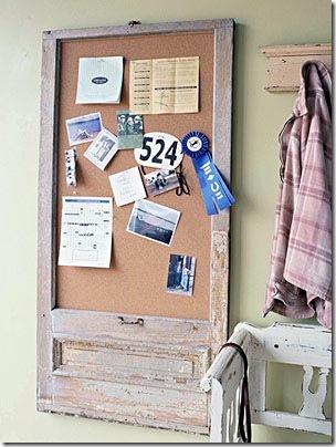 Porta de armário vira um charmoso quadro de avisos