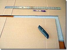Prepare o suprote de papelão