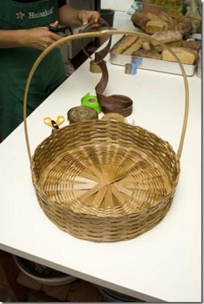 Escolha uma cesta de vime