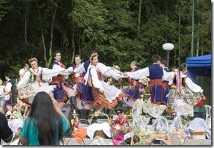 Apresentação do grupo folclórico Wisla