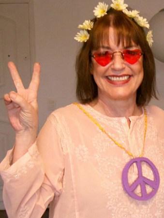 Angela Magrinha na geração Paz e Amor