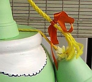 Detalhe da amarração com corda