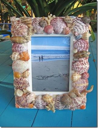 Porta-retrato decorado com conchas especiais