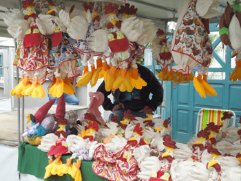 Stand de feira de artesanato