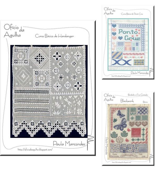 Apostilas de bordados variados de Paula Marcondes