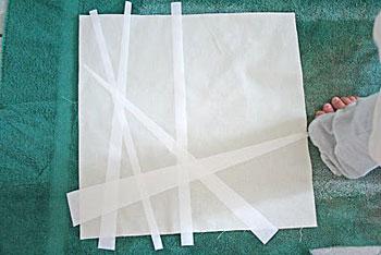 Monte a composição sobre o tecido