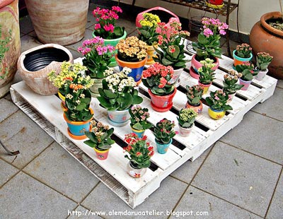 Base para flores da Vero Kramer, com pallet