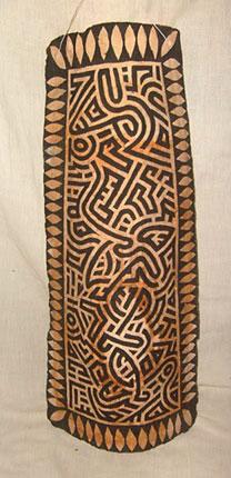 Um grafismo bem tribal, estilo marcante de Fabrício