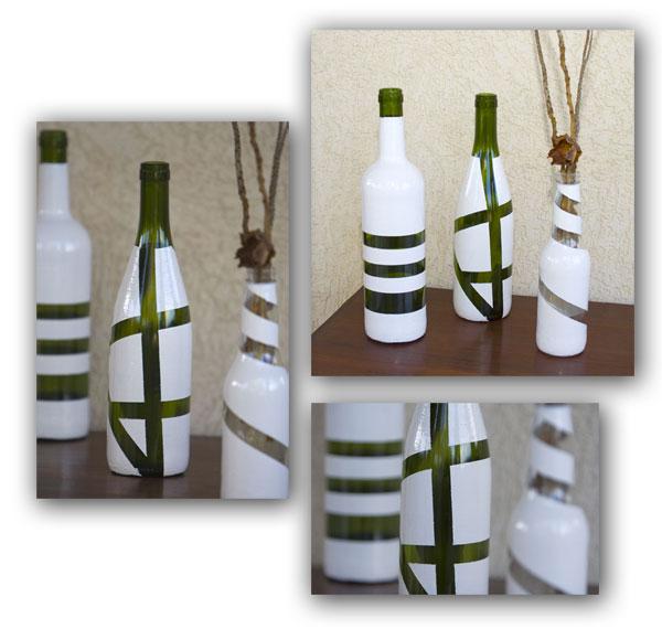 Garrafas recicladas que e transformaram em lindos vasos