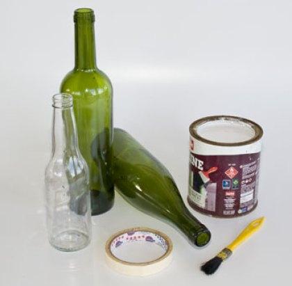 Material para transformar suas garrafas em vasos