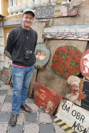 Ronaldo Haammes, o artista plástico da sucata