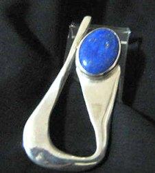 Pingente em prata e lápis lázuli, de Jóias de Rudá