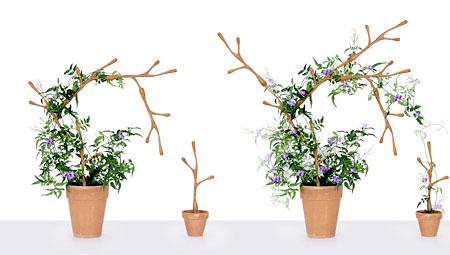 Tutor para vasos de plantas, material encaixável e modulável