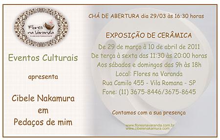 Convite da exposição de Cibele Nakamura