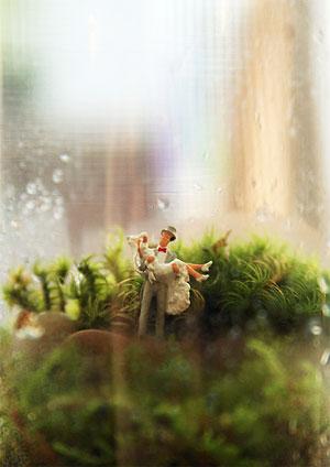 Felizes para sempre, uma miniatura de casal de noivos