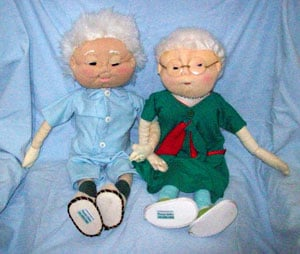 Bonecos de tecido tradicionais da Maria da Conceição Galdino