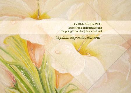 Convite para exposição de Bernadeth Rocha