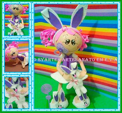 Apostila Fofucha Baby vestida de coelha