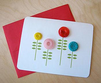 Botões são as flores do cartão do dias das mães