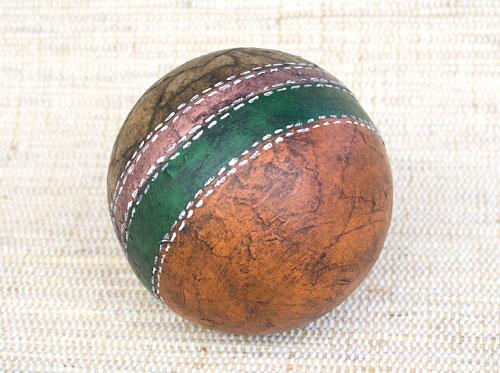 Bola decorativa com efeito de couro, o couro ecológico da reciclagem
