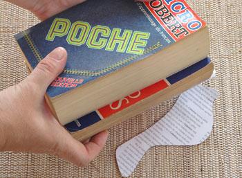 Deixe secar sob livros pesados