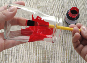 Pinte o vidro com tinta vitral
